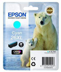 EPSON Cartuccia di inchiostro Ciano Claria Premium 26 XL Orso Polare