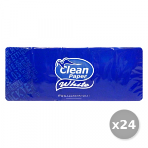 CLEAN Set 24 CLEAN Fazzoletti * 10 Pezzi - Fazzoletti di carta