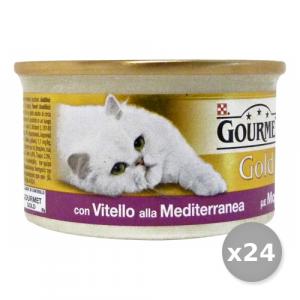 PURINA Set 24  Dadini Vitello Alla Mediterranea 85 gr Cibo Per Gatti