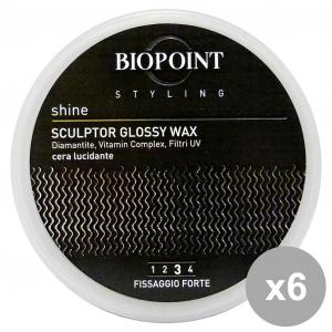 BIOPOINT Set 6 Cera Vaso Sculptor Glossy Forte 100 ml Pv05311 Prodotti Per capelli