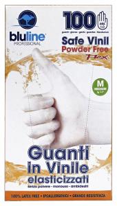 BLULINE Guanti X 100 Vinile FLEX Taglia m Elasticizzato Giardinaggio