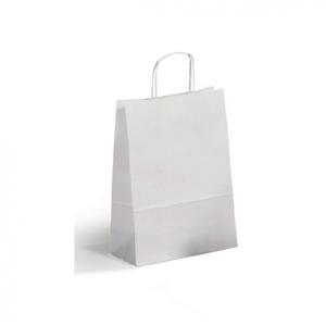 SAUL SADOCH Set 25 Confezioni Borsa per la spesa Sds26 Bianco 26x36 Carta Kraft