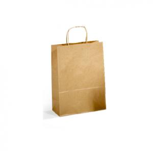 SAUL SADOCH Set 25 confezioni shoppers sds46 46x49 avana carta kraft