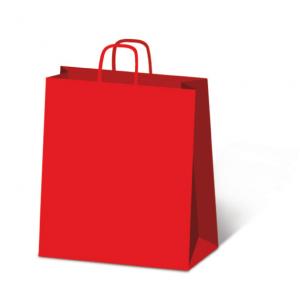 SAUL SADOCH Set 25 confezioni shoppers sdf46 46x49 rosso 551 busta