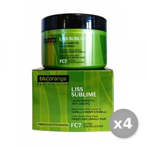 Set 4 BLU ORANGE Liss Sublime Maschera Vaso 200 ml Prodotti Per capelli