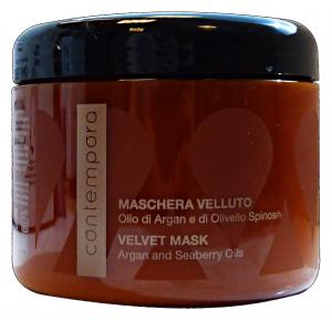 CONTEMPORA Maschera Velluto Argan Vaso 500 ml - Articoli Per capelli