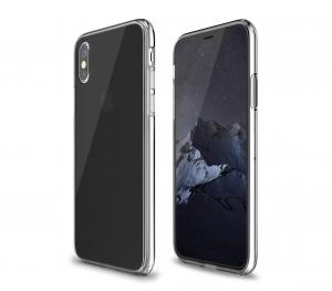 QDOS Hybrid cover per iPhone X - Trasparente