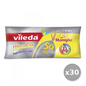 VILEDA Set 30 Sacchi 60X75 Con Maniglie Superrinforzate15 Pezzi Riordino