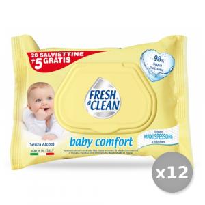 Set 12 FRESH AROMA Salviette Baby X 25 Pezzi Linea Bimbo