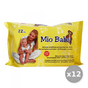 Set 12 MIO Baby Salviette Baby Aloe * 72 Pezzi Linea Bimbo