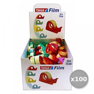 Set 100 SCOTCH BRITE CHIOCCIOLINA 'TESA' 10X15 MM. Cartoleria E Scuola