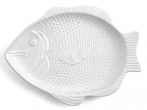 HOME Piatto Pesce Ceramica 42X32X3 accessorio per la tavola