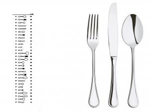 ABERT Set 12 Cucchiaini Inox Caffè Imperial utensile da cucina
