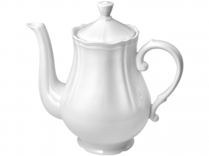 POL Caffettiera porcellana alba litri 1.2 Moka per il caffè
