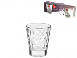 BORMIOLI ROCCO Set 12 Confezione 3 Bicchieri Vetro Diamond Liquor Cl08