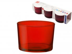 BORMIOLI ROCCO Set 6 X 3 Bicchieri In Vetro Bodega Mini Rosso