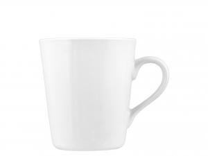 ROYAL NORFOLK Set 6 Mug in Porcellana Bianca di Forma Conica 300 cc