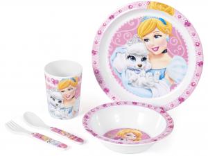 HOME Confezione 5 Pezzi Bimbo Melamina Princess&Pets Arredo Accessori Bimbo