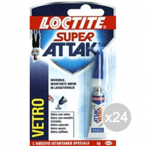 Set 24 SUPER ATTAK Gr.3 Vetro Tubetto Cancelleria E Cartoleria
