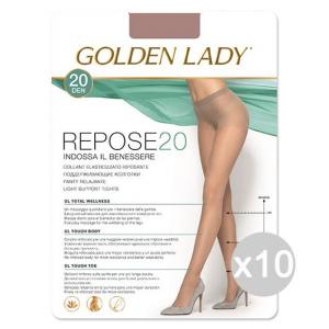 Set 10 GOLDEN LADY Repose 20 Melon 4 Calze Collant Da Donna Abbigliamento E Accessori
