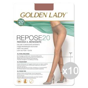 Set 10 GOLDEN LADY Repose 20 Daino Xl Calze Collant Da Donna Abbigliamento E Accessori