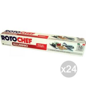 Set 24 ROTOFRESH Alluminio Mt. 16 Accessorio Per La Cucina E Conservazione Dei Cibi