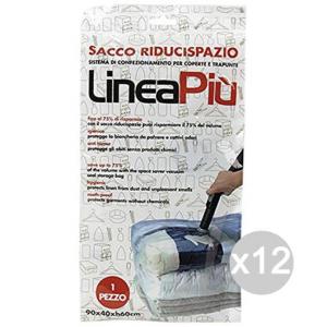 Set 12 Sacchi Riducispazio X1 90/40/60 Sottovuoto Contenitore Per Alimenti