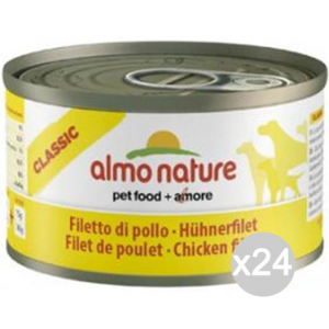 Set 24 ALMO NATURE Cane 5500 Lattina 95 Filetto Pollo Alimento Per Cani