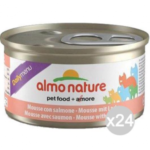 Set 24 ALMO NATURE Gatto 158 Lattina Gr 85 Sne Mousse Cibo Per Gatti