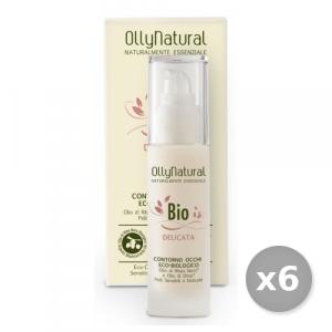Set 6 OLLYNATURAL Viso Delicata CONTORNo Occhi 30 ml Cura del viso