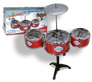 DRUM SET 3 TAMBURI E PIATTO 513342 BONTEMPI NEW