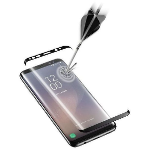 Cellularline Second Glass Ultra Curved - Galaxy S8+ Vetro curvo temperato, resistente e ultra sottile Trasparente/Nero
