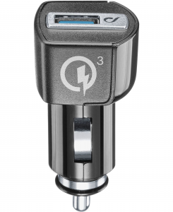Cellularline USB Car Charger 18W - Huawei, LG, Asus and other smartphone Caricabatterie da auto adattivo 18W Nero