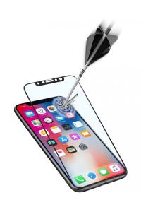Cellularline Second Glass Ultra Capsule - iPhone X Vetro temperato ultra resistente da bordo a bordo Trasparente.Nero