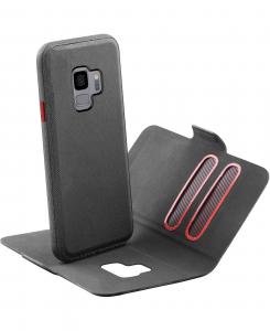 Cellularline Match - Galaxy S9 Custodia a libro con cover interna removibile Nero