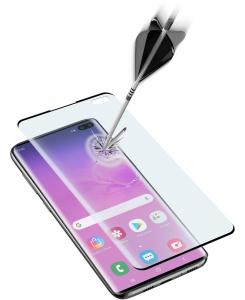 Cellularline Second Glass 3D - Galaxy S10+ Vetro temperato curvo, resistente e ultra sottile Trasparente.Nero