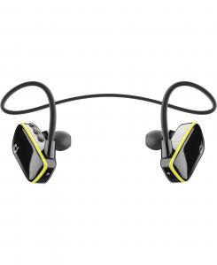 Cellularline Flipper - Universale Auricolari Bluetooth impermeabili con memoria integrata Nero