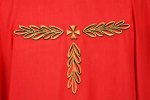 Casula Concelebrazione CMP161T rossa - Velo di ter. lana