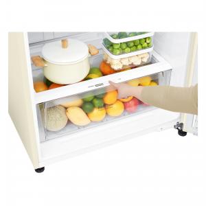 LG GTF744SEPZD frigorifero con congelatore Libera installazione Sabbia 509 L A++
