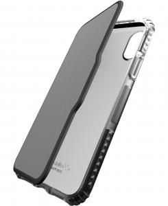 Cellularline Tetra Force Book-Advance - iPhone XS/X Custodia a libro ultra-protettiva Nero.Trasparente