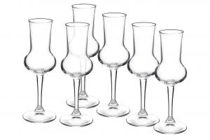 Calice grappa in vetro 6 pezzi 8 cl Riserva cm.16,3h diam.5,6