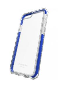 Cellularline Tetraforce Shock-Tech - iPhone 8/7 Custodia con triplo livello di protezione contro urti e cadute Trasparente.Blu