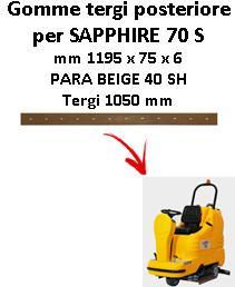 GOMMA TERGI posteriore per lavapavimenti SAPPHIRE 70 S Adiatek