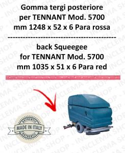 5700 GOMMA TERGI posteriore PARA rossa per lavapavimenti TENNANT - squeegee 900 mm