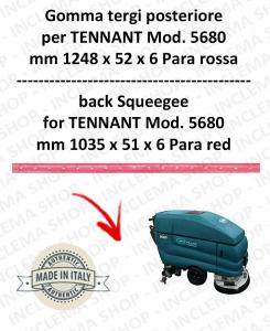 5680 GOMMA TERGI posteriore PARA rossa per lavapavimenti TENNANT - squeegee 900 mm