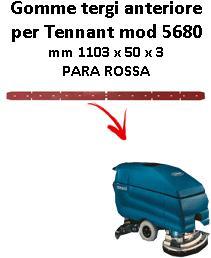 7100 GOMMA TERGI anteriore PARA rossa per lavapavimenti TENNANT - squeegee 800 mm