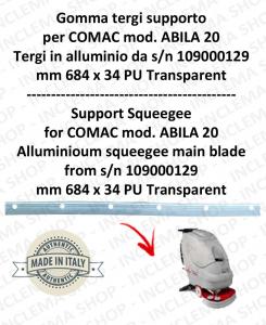 Gomma tergipavimento supporto per lavapavimenti COMAC ABILA 20 tergi in alluminio da s/n 109000129