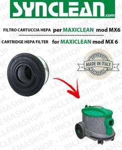MX 6  FILTRO CARTUCCIA HEPA PER aspirapolvere maxiclean - cod: 2512755 - SYNCLEAN