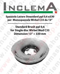 SPAZZOLA LAVARE PPL 0,6 per monospazzola WIRBEL C33 - dim ø 13  = 330 mm
