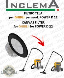 FILTRO TELA PER aspirapolvere GHIBLI modello POWER D 22 P / I